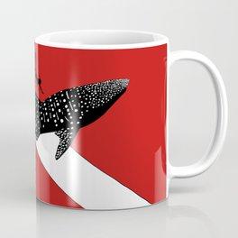 DIVER DOWN - whale shark dive Coffee Mug