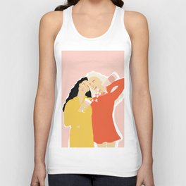 Best Friends and Wine Unisex Tank Top