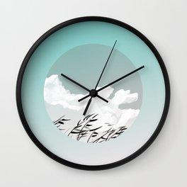 Warm Winds Blow Wall Clock
