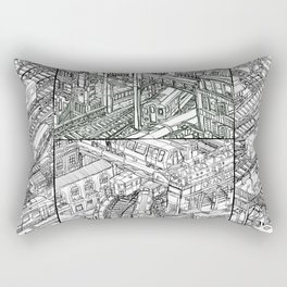 The Town of Train 3 Rectangular Pillow