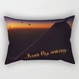 Just Fly Away Rectangular Pillow