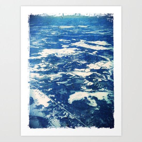 Ottawa Winter from The Air Art Print