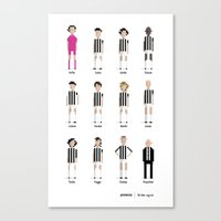 juventus Canvas Prints featuring Juventus - All-time squad by All-time squad