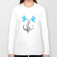 sam smith Long Sleeve T-shirts featuring Sam Anchor of Love by Annette Jimerson