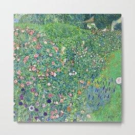 Gustav Klimt Italian Garden Metal Print
