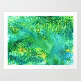 Bluegreen Dream Art Print