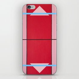August - blue square graphic iPhone Skin