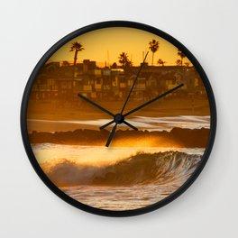 Sunrise Shorebreak Wall Clock