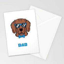 Cool vizsla Dad Dog Gift Stationery Cards