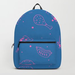 Fast Food Snacks Attack - Pizza Pie Hot Dogs Chicken Wings! on Cotton Candy Backpack
