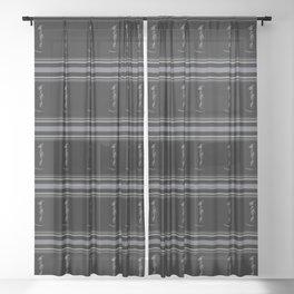 Black on Black Lab Sheer Curtain