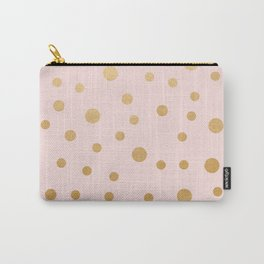 Blush and faux gold foil Carry-All Pouch