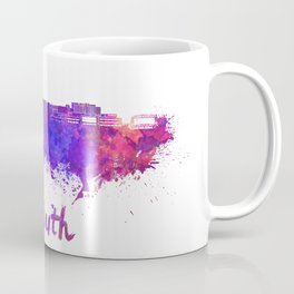 Duluth skyline in watercolor Coffee Mug