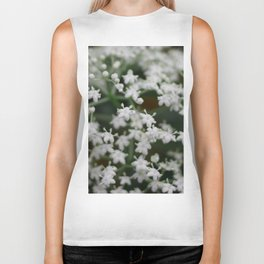 Small little white flowers Biker Tank