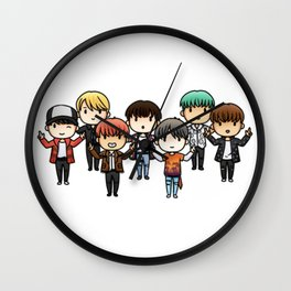 All bts chibi Wall Clock