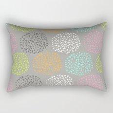 Flowers-triangles Rectangular Pillow