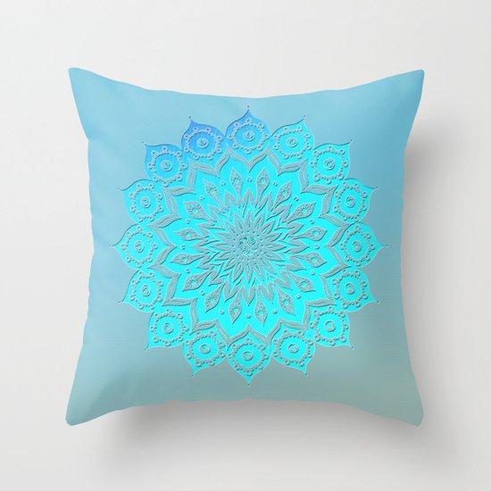 okshirahm woodcut Throw Pillow
