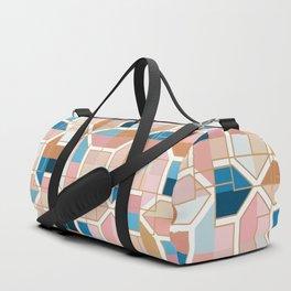 Mediterranean Geometric Shapes I. Duffle Bag