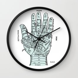 Palm Reader, Chiromancy, fortune-telling Wall Clock