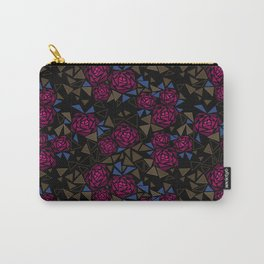 Geometric pattern . Crystals .Roses . Carry-All Pouch