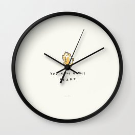 You Have A Nice Heart Wall Clock