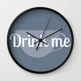 Alice in Wonderland- Drink Me Wall Clock