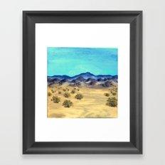 desert scenery by dani Framed Art Print