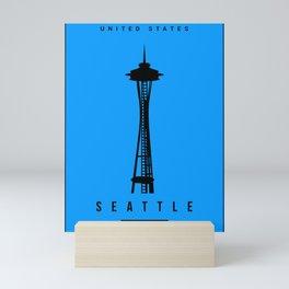 Seattle Minimalist Art Mini Art Print