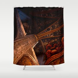 Looking Up - Albi Cathedral Shower Curtain