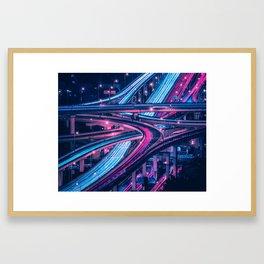Shanghai six-level stack interchange Framed Art Print