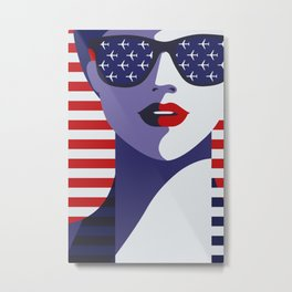 American Stewardess Metal Print