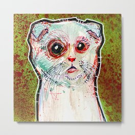 Infected Sugar Cat Metal Print