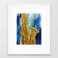 palo alto Framed Art Prints featuring Alto Sax by ja12coo