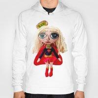 karu kara Hoodies featuring Kara Zoe-El ~ Supergirl by Chiara Venice Art Dolls