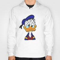 donald duck Hoodies featuring Donald Duck by DisPrints