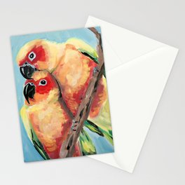Peach Faced Lovebirds Stationery Cards