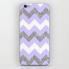 purple glitter chevron iPhone & iPod Skin
