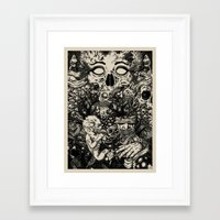 nightmare Framed Art Prints featuring Nightmare by Infested Art