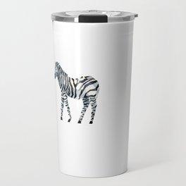 zebra draw abstract Travel Mug