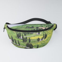 Cypress trees in Tuscany Fanny Pack