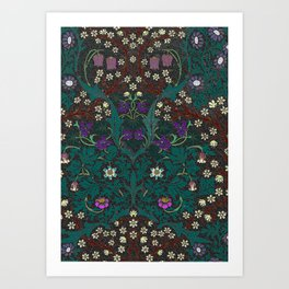 Blackthorn - William Morris Art Print