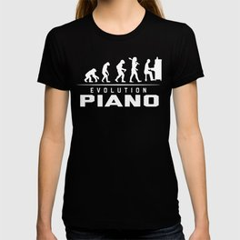 EVOLUTION OF PIANO T-shirt