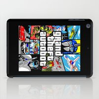 grand theft auto iPad Cases featuring Grand Theft Autobot (GTA G1 Transformers) by Demonlinks