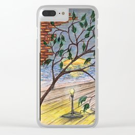 Breaking Through Walls Clear iPhone Case