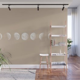 Moon Phases in Peach Wall Mural
