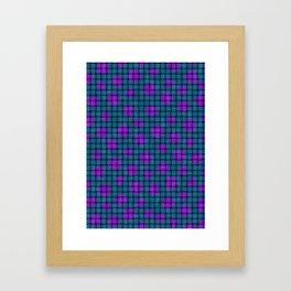 BASKET WEAVE PATTERN 1 Framed Art Print