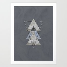 Concrete Meets Marble Triangle Art Print