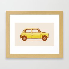 Famous Car #1 - Mini Cooper Framed Art Print