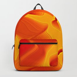 echos in orange and yellow Backpack