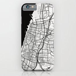 Tel Aviv City Map of Israel - Black Circle iPhone Case